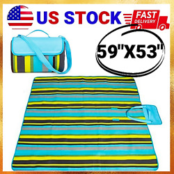 Sand Proof Free Beach And Picnic Blanket Oversized Waterproof Mat 59quot;x53quot; $19.24