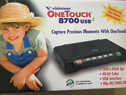 Visioneer One Touch 8700 Usb 1200 X 4800 Dpi 48 Bit Color Flatbed Scanner