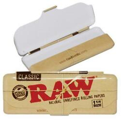 RAW Classic Cigarette Paper Storage Metal Case Tin 1 1 4 size High Quality NEW