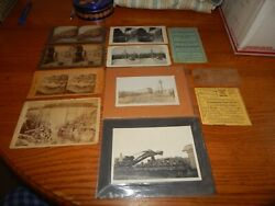 Very Old 1900's And Up Lot Of 11 Train Steroview Cards, Photo's Rare 1936 Ford Reg