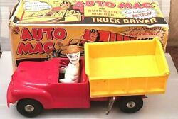 1950's Marx Toys Auto Mac The Wonder Truck Wind-up With Key Working In Box