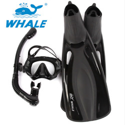 Whale Swimming Snorkeling Fin Foot Flippers Diving Mask Snorkel Fins Set