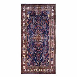 5and0391x10and039 Blue Gallery Size North West Farsian Pure Wool Hand Knotted Rug R49918
