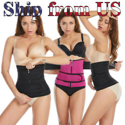 Women Waist Trainer Body Shaper Slimmer Sweat Belt Tummy Control Neoprene Band $13.99