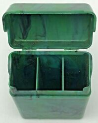 Vintage Efka Plastic Marbleized 3 Compartment Cigarette Case Made In Germany