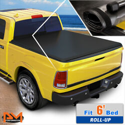 Vinyl Soft Top Roll-up Tonneau Cover For 82-93 Chevy S10/gmc S15 6ft Truck Bed