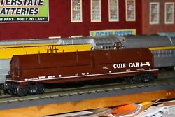K-line O Scale Classic Die-cast Gondola W/coils And Covers Car 534578 Used Bnsf