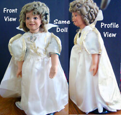 Ooak Rare Shirley Temple Porcelain Doll 24 - Princess - Collectible-must See
