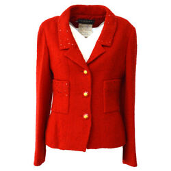 93a 36 Cc Logos Button Single Breasted Long Sleeve Sequins Jacket 05105