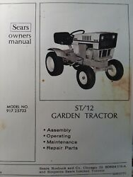 Sears Suburban St/12 Lawn Garden Tractor Owner, Parts And Engine Manual 917.25733