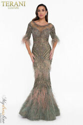 Terani Couture 1821gl7412 Evening Dress Lowest Price Guarantee New Authentic