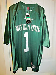 Michigan State Spartans Sewn Football Jersey - Nike Adult Xl Nwt