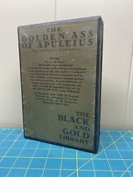 The Golden Ass Of Apuleius 1927 1928 Liveright Black And Gold Library Hc