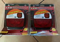 2 Submersible Stop/tail/turn Light 7 Function-led-use On Trailers Under 80 Q