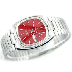 Vintage Omega Seamaster T Automatic Day Date G Red Custom 1020 Dial Mens Watch