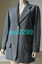 Nwt 14c Tweed 100 Wool Long Jacket Coat Suit 42 Extra Buttons New