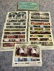 Lot Of Assorted Antique Stereoviews Including Native Americans And Some Rude Views