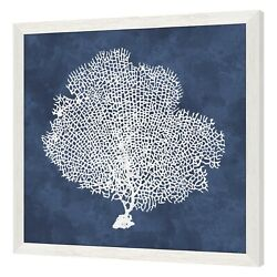 White Tree Painting Wall Art Home Decor Blue Background
