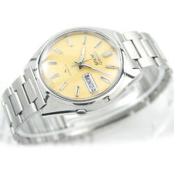 Vintage Seiko Actus R Automatic Day Date 21 Jewels G Lemon Col Dial Mens Watch