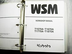 Kubota T1570a T1670a T1770a T1870a Workshop Manual With Flat Rate Book