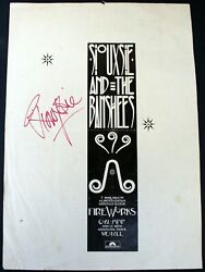 Siouxsie And The Banshees Signed Magazine Advert Fireworks Smash Hits June 1982