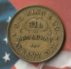 1861-1865 United States Union Flour Token- Albany Ny- Rare- In Great Shape