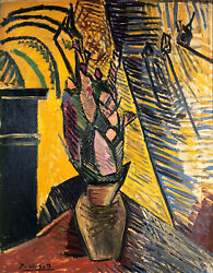 Flowers On The Table 1907 Signed Pablo Picasso - 17x22 Fine Art Print -00589