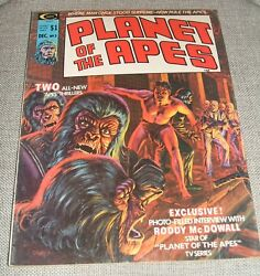 Planet Of The Apes Volume 1 Number 3 Vintage Magazine See Photos Illustrated