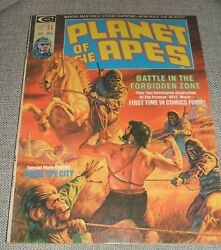 Planet Of The Apes Volume 1 Number 2 Vintage Magazine See Photos