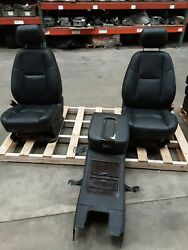 12-14 Yukon Denali Front, 2nd, And 3rd Row Black Leather Seats And Console