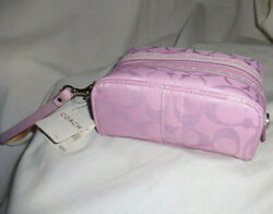 Coach Cosmetic Toiletry Overnight Wristlet Bag Case Pouch 6578 Pink Macy#x27;s NEW $59.99