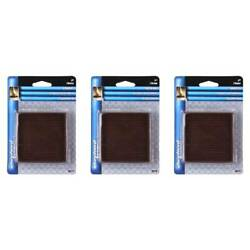 Shepherd Hardware Rubber Furniture Caster Cups 3in Square 2 Count Brown, 3-pack