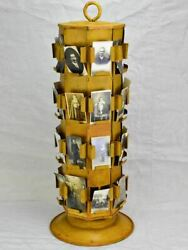 Mid Century Seed Display With Yellow Patina 29½