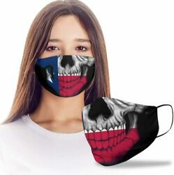 Texan Skull Texas State Flag Reusable Washable Mask for Dust Protect NON-MEDICAL $13.99
