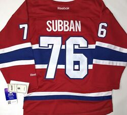 120-youth-nwt-s/m Pk Subban Montreal Canadiens Licensed Reebok Hockey Jersey