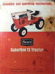 Sears Suburban 12 Lawn Riding Garden Tractor Owners Manual 917.25550 H.p 1969