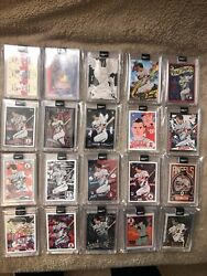 2020 Topps Project 2020 /27 Mike Trout 20-card Complete Set + Ermsy Player Auto
