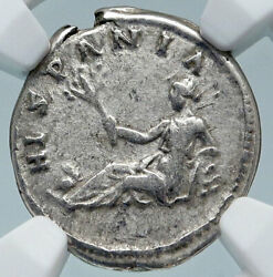 Hadrian Travels To Spain Authentic Ancient 134ad Silver Roman Coin Ngc I85227