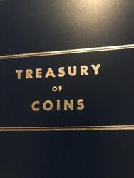 Vintage 60's Treasury Of Coins Binder Lincoln.cents Mh Dimes Roosevelt Dimes