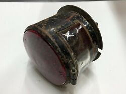 Vintage Car Auto Tail Lamp Tag Light Truck Trailer Red Glass Old Nos Motorcycle