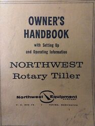 Northwest Equipment 3-point Rotary Tiller Implement 1962 Owner And Parts Manual
