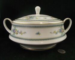 Noritake Ivory China Amenity 7228 Round Covered Vegetable Serving Bowl With Lid