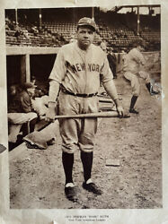 Babe Ruth 1926 M101-7 Sporting News Supplement Card -small Tear/hole See Photos