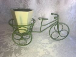 Decorative Wire Iron Bike Bicycle Tricycle Flower Arrangement Planter Vase Pot