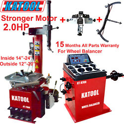 Katool Tire Changer Wheel Balancer Combo 2.0hp Motor With Motorcycle Clamping