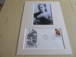 Joe Louis The Brown Bomber Boxing Photograph And 1993 Usa Fdc Mount Size A4