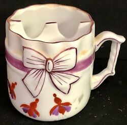 Vintage German Porcelain Bow Tie Mustache Or Tea Bag Cup Made In Germany