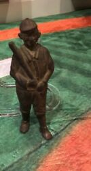 Circa 1910 Iron Ty Cobb Coin Bank Rare Very Hard To Find Must For Ty Cobb Fan