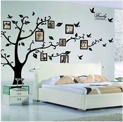 DIY Family Tree Wall Art Stickers Removable Vinyl Black Trees Photo Wall Sticker