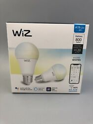 Wiz Connected Light Bulbs Led Wifi Smart White A19 Voice Control Custom 800lm